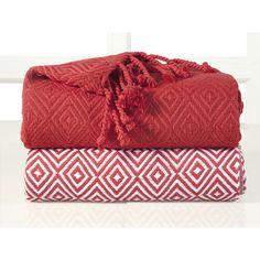 Elegancia Diamond Weave Cotton Throw Blanket   Wayfair.ca