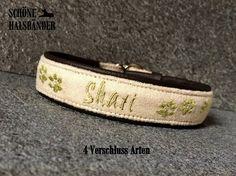 Hund: Halsbänder - Hundehalsband mit Name **Zugstopp**  - ein Designerstück von schoene-halsbaender bei DaWanda