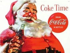 Coca Cola Santa Coke Tin Sign is a brand new vintage tin sign made to look vintage, old, antique, retro. Purchase your vintage tin sign from the Vintage Sign Shack and save. Coca Cola Vintage, Vintage Tin Signs, Retro Vintage, Vintage Style, Vintage Kitchen, Retro Style, Vintage Decor, Coca Cola Christmas, Dark Christmas