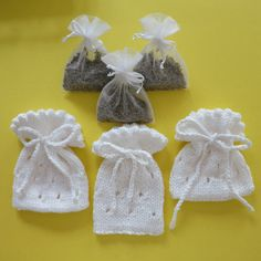 Set of Knitted Sachet Bags with Lavender by WomanOnTheWater, $18.00  etsy.com    check out her shop