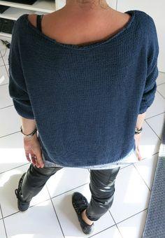 Tuto gratuit un pull simple a tricoter encolure en V - HARITI