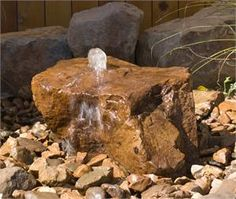 Rock bubbling fountain