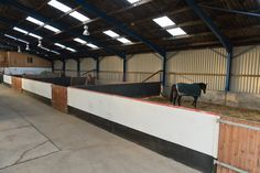 Should we even call these stalls? How about small indoor paddocks!  How nice!