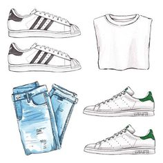Good objects - Blue jeans, white tee and adidas #superstar or #stansmith ? @adidasoriginals #goodobjects