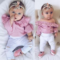 Baby girl clothes for infant. This Newborn girl outfit looks super cute on your baby girl. The baby girl outfi Baby Outfits, Newborn Girl Outfits, Newborn Clothing, Kids Clothing, Baby Girl Fashion, Kids Fashion, Babies Fashion, Fashion Ideas, Fashion Outfits