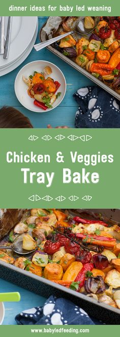A really yummy one tray dinner full of goodness that is also a baby friendly family meal. Perfect dinner recipe for baby led weaning.