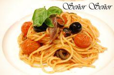 Espaguetis a la puttanesca | Receta de Sergio
