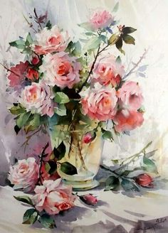 WATERCOLOR  rose paintig