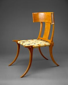robsjohn gibbingss design derives from the ancient klismos chair introduced in greece during the fifth century the klismos is elegant and light ancient greek furniture