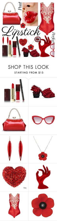 """Pucker Up: Spring Lips"" by zouus ❤ liked on Polyvore featuring beauty, Kevyn Aucoin, Marco de Vincenzo, Moschino, Mark Davis, La Perla, LIPSTICK, makeup, gloss and springlips"