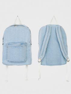 Denim School Bag Backpack Bags, Denim Backpack, American Apparel Backpack,  School Backpacks, bd68be159b