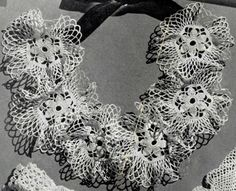 Picture Pretty Collar crochet pattern from The Magic of Crochet, originally published by Spool Cotton Company, Book 168, in 1941.