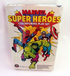 Marvel Super Heroes Colorforms Adventure Play Set NIB Sealed 1983 #Colorforms