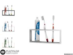 - Platinum Bathroom - Tooth Brush Holder Found in TSR Category 'Sims 4 Clutter' The Sims 4 Pc, Sims Four, Sims 4 Tsr, Sims Cc, Sims 4 Cc Furniture Living Rooms, Muebles Sims 4 Cc, Sims 4 Traits, Sims 4 Bedroom, Casas The Sims 4
