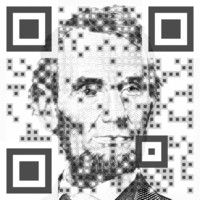 Abraham Lincoln designed to engage.  Great Visual QR Code design. Create your Visual QR Code at:www.visualead.com