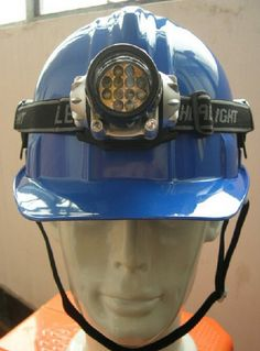 3.V-Shape miner's lampSafety Helmet  V-Shape miner's lampSafety Helmet/miner's lampSafety Helmet/Safety Helmet  Descriptions: chinacoal10   1. HDPE shell is also available  2. Accessories matchable, such as earmuff & faceshield, miner's lamp  3. Logo printing service to meet clients' demands  4 V-shape top can increase the impact resistance  5. Changeable sweatband & chin buckle
