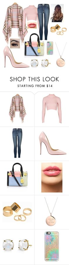 """""""Untitled #117"""" by americaord on Polyvore featuring Topshop, Current/Elliott, Christian Louboutin, Kurt Geiger, LASplash, Pieces, Kate Spade, Casetify, women's clothing and women"""