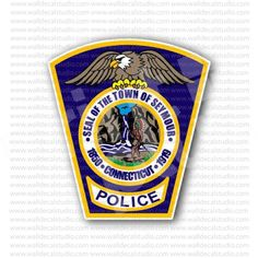 Connecticut Police Department Seal Sticker