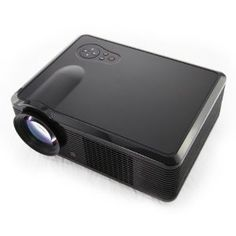 HTP HD Ready LED Home Movie Projector USB HDMI 1080P 2000 lumens 30000 Hours Black