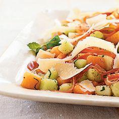 Melon and Prosciutto Salad with Parmigiano-Reggiano   MyRecipes.com