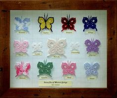 Stunning decorative Crochet Butterflies. More Patterns Like This!