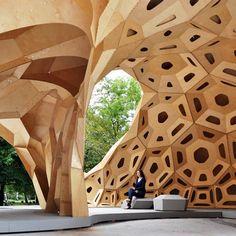 Pavilion at the University of Stuttgart  A pesar de lo compleja que es la arquitectura , el arte, el diseño, la inspiración está al lado nuestro...