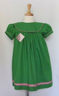 baby girl green christmas dress baby girl by MonogrammedClothing