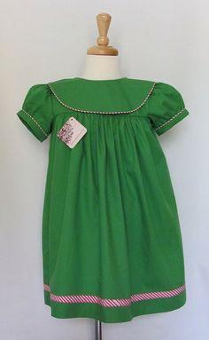 Green Christmas Dresses Toddler Pre Order Monogram Toddler Dress