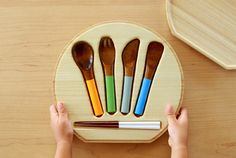 Love this.....Wooden cutlery for children ;-)