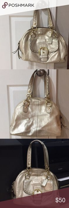 Metallic Gold Coach handbag Great condition Bags Shoulder Bags