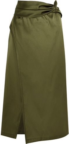 Pin for Later: 34 Wrap Skirts to Get All Tied Up in This Spring  3.1 Phillip Lim Wrap-Effect Satin Skirt ($495)