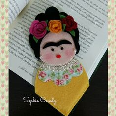 Marca Pagina Frida Kahlo Confeccionamos qualquer tema.