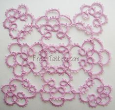 Free Tatting Patterns » Square tatted doily (doily №4)
