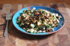 vietnamese leek and eggplant salad