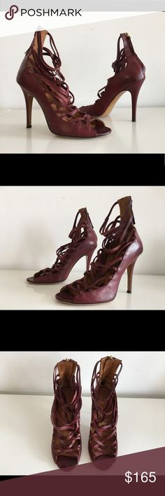 """ISABEL MARANT PAW LACE UP STRAPPY SANDALS IN BROWN ISABEL MARANT PAW LACE UP STRAPPY SANDALS IN BROWN LEATHER SIZE 41 STILETTO HEEL 4.5"""" OPEN TOE BACK ZIP CLOSURE  MADE IN ITALY  GENTLY USED IN EXCELLENT CONDITION  COMES WITH DUST BAG, NO BOX lsabel marant Shoes Sandals"""