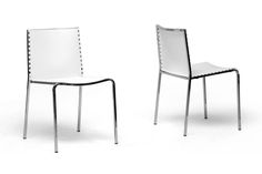 Gridley White Plastic Modern Dining Chair (Set of 2) | Interior Express