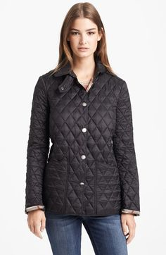 Burberry 'Pirmont' Quilted Jacket on shopstyle.com