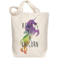 Morado Designs 'Always Be a Unicorn' Tote (€15) ❤ liked on Polyvore featuring bags, handbags, tote bags, handbags tote bags, tote hand bags, handbags totes, pink tote and pink tote purse