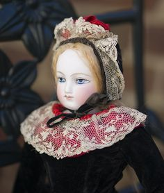 "15"" (38 cm) Very lovely French Fashion doll by Barrois - fully original!"
