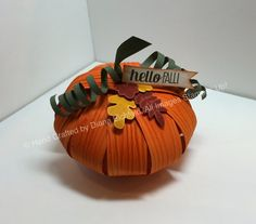 Stampin' Fun with Diana: Stylin' Stampin' INKspiration October Blog Hop: Pumpkins, Pumpkins, Everywhere!, For all Things, Big Shot, Pumpkin, 3D, Stampin' Up, Diana Eichfeld, Framelits