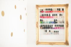 the prettiest nail polish rack! photography by nataschia wielink photography.