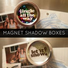 Becoming Martha: Magnet Shadow Boxes / Snow Globes