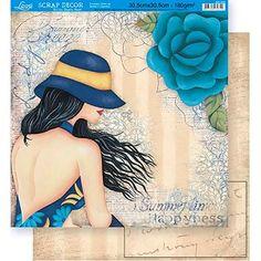 Scrapbook-Folha-Dupla-Face-Flores-SD-340---Litoarte
