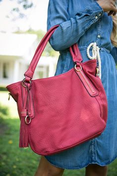 Pink Coconut Boutique | Running Late For The First Date Purse - Red