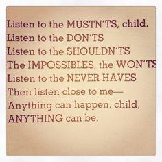 Shel Silverstein. Love it.