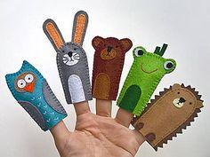 Hračky - Zvieratká 2. - prstové bábky - 9097143_ Handmade, Felt, Hand Made, Handarbeit