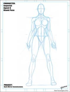 Imperial Agent 6 Blank Pose Sketch by stourangeau on DeviantArt - Trend Character Design Feminino 2019 Drawing Female Body, Human Anatomy Drawing, Body Reference Drawing, Female Reference, Anatomy Art, Art Reference Poses, Body Sketches, Anatomy Sketches, Art Poses