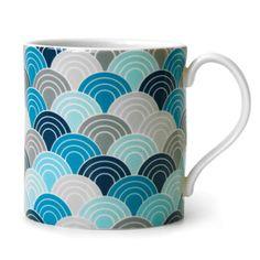 Jonathan Adler Carnaby scale mug blue