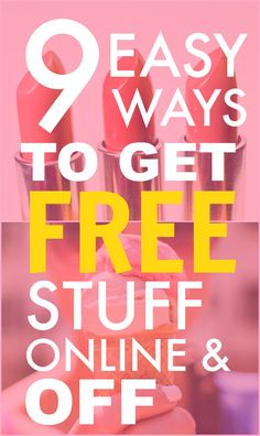 You NEED TO check out these 9 AWESOME and easy ways to get free stuff online and… Stuff For Free, Free Stuff By Mail, Free Baby Stuff, Free Clothes Online, Couponing For Beginners, Couponing 101, Free Sample Boxes, Freebies By Mail, Get Free Samples