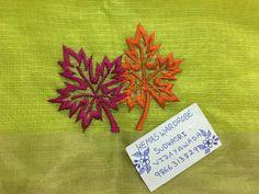 Sudhasri hemaswardrobe Cushion Embroidery, Embroidery On Kurtis, Kurti Embroidery Design, Floral Embroidery Patterns, Hand Embroidery Flowers, Hand Work Embroidery, Hand Embroidery Stitches, Hand Embroidery Designs, Ribbon Embroidery